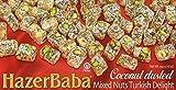 Mixed Turkish Delight w/ Nuts and Coconut (Pistachio, Almond & Hazelnut),16 Oz