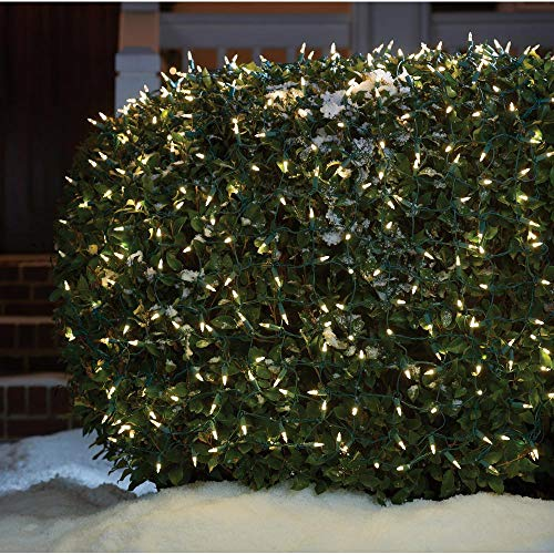 Home Accents Holiday 4ft x 6ft 300 LED Mini Net Lights - Warm White - Super Bright - Continuous ON