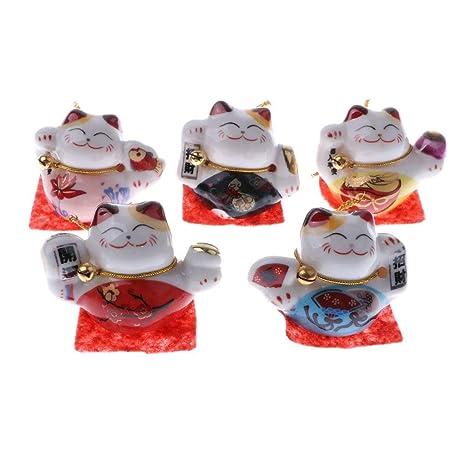 Juego de 5 gatos chinos de la suerte - buena suerte encanto ...