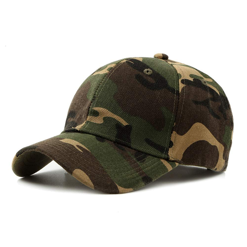 TRDyj Outdoor Hiking Tourism Hat Male Fashion Casual Hat Camouflage Cap Baseball Cap Female Universal (Color : Camouflage Green)