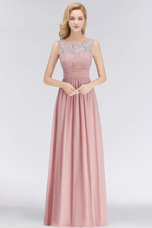 2018 Damen Elegant A-Linie Spitzen Brautjungfernkleid Abendkleid Ballkleid lang EU 32-46