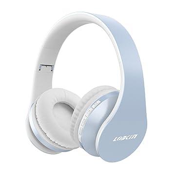 lobkin Auriculares Bluetooth sin hilos Auricular inalámbrico plegable con micrófono, 4 en 1 auriculares de
