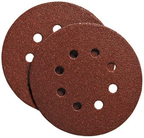 B003YL47VA PORTER-CABLE 735801000 5-Inch Hook and Loop Aluminum Oxide 8 Hole 100G Disc (100-Pack) 61pyDirF7XL