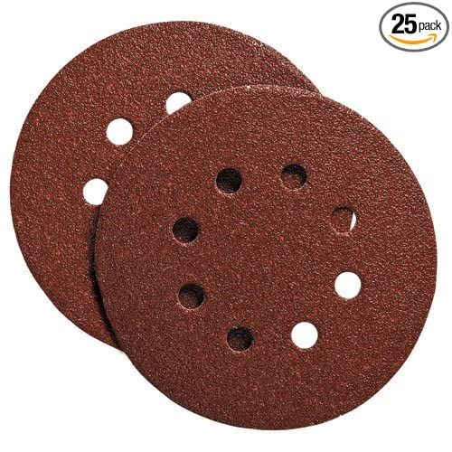 25-Pack PORTER-CABLE 725801025 5-Inch 8 Hole 100G Disc