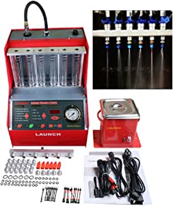 LAUNCH Autool CNC602A AUTO Car Fuel Injectors Ultrasonic Wave Cleaner Injection Tester with Free 110V Transformer