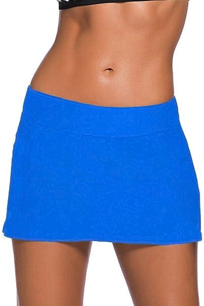FuYang Mujer Shorts de Baño, Falda de Bikini con Falda Corta ...
