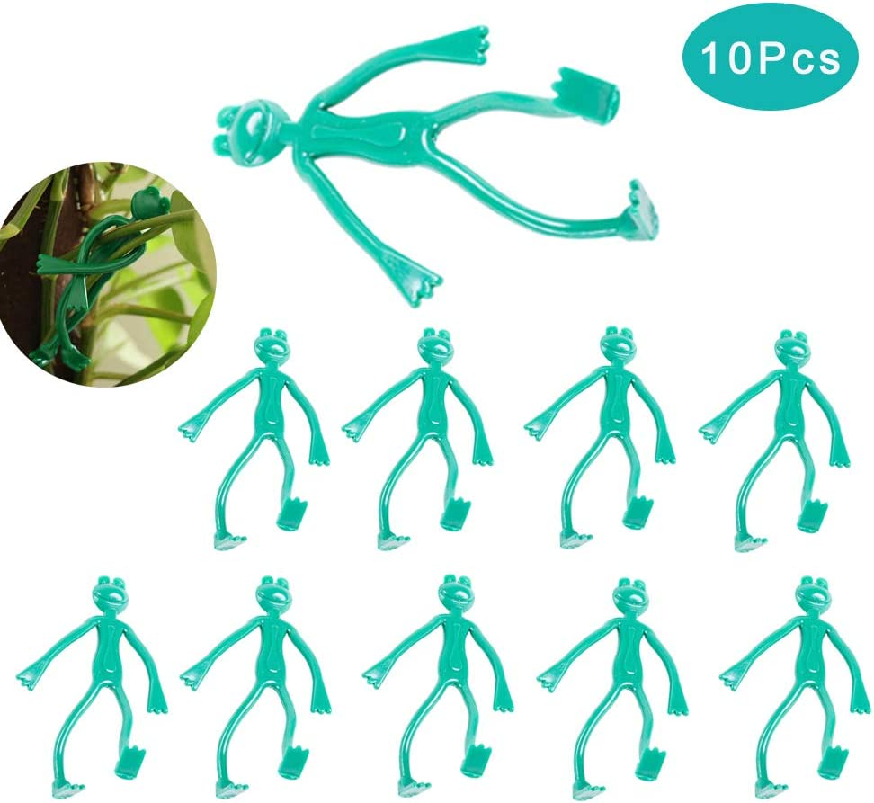 Reusable Cable Ties Adjustable Plant Fastening Strap Grafting Fixed Buckle for Garden Planting Climbing Plant LIDEBLUE 10Pcs Frog Plant Zip Ties
