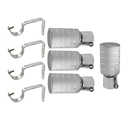 Prushti Fashion SET OF 4 SILVER CURTAIN BRACKET FOR DOOR&WINDOW Accessories at amazon