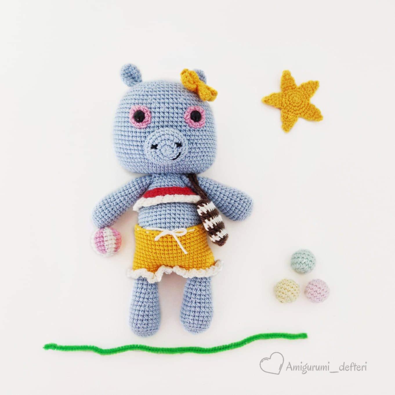 FREE PATTERN: Small Hippo – Kristi Tullus   1362x1362