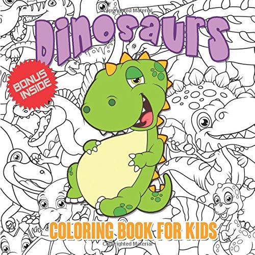 Dinosaurs Coloring Book For Kids Simple Dinosaur Coloring Book For