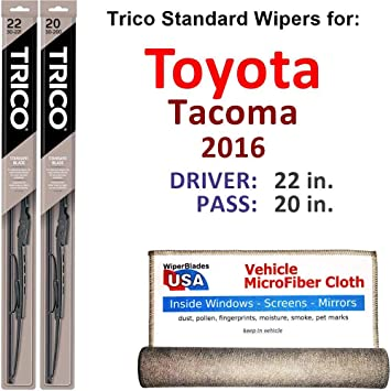 Amazon.com: Juego de escobillas para limpiaparabrisas Toyota ...