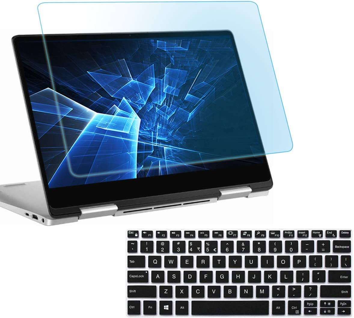 Anti Blue Light Glare Laptop Screen Protector for Dell XPS 13 9380 13.3 Inch with Gift Keyboard Cover, Eyes Protection Filter Block UV and Reduce Fingerprint
