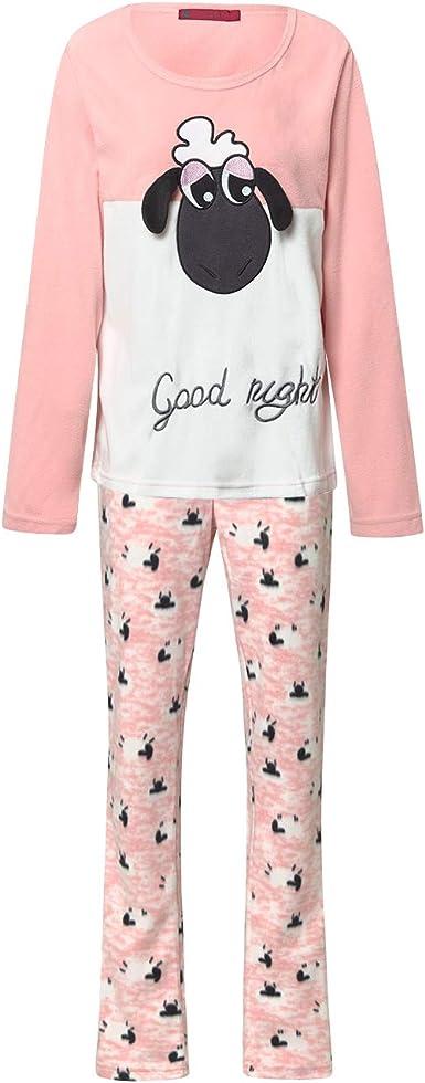 Pijama Mujer Térmico Polar Largo