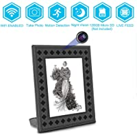 WiFi Fashion Photo Frame Spy Hidden Wireless Camera,BSTCAM 720P 1 Years Long Standby Times Night Vision Motion Activated Picture Frame Home Security Nanny Cam Video Recorder Surveillace Camera for Home/Office/Shop indoor Security