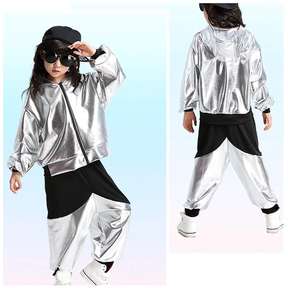 Tenthree Danza Abbigliamento Top Bambine Ragazze Costumi Jazz Hip-Hop per Bambini Abbigliamento per Spettacoli Scenici Dancing Partito Costumi da Ballo