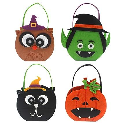 Amazon.com: Bolso para Halloween, 4 cestas para Halloween ...