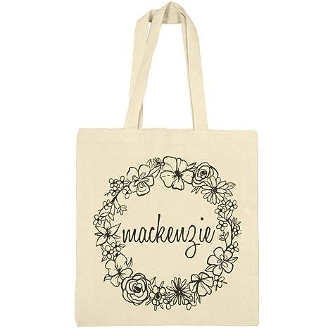 62161176862e Amazon.com: Cute Floral Mackenzie Tote Bag: Canvas Bargain Tote Bag ...