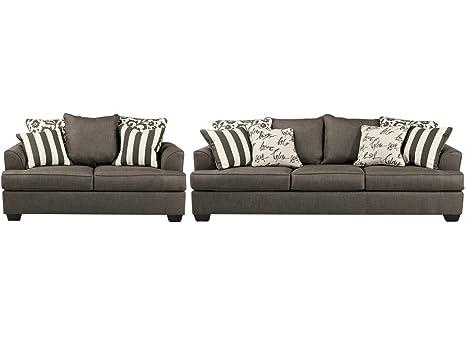 Amazon Com Signature Design By Ashley Levon Living Room Set With
