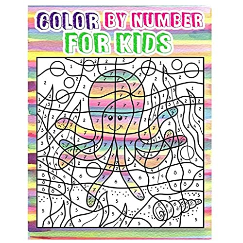 Color By Number For Kids Animals Coloring Book Ages 4 8 Activity Dot To Game 100 Pages