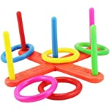 Giveme5 Children Toys Rope Quoits Hoopla Set Ring Toss Hoop La Game for Outdoor/Indoor activity