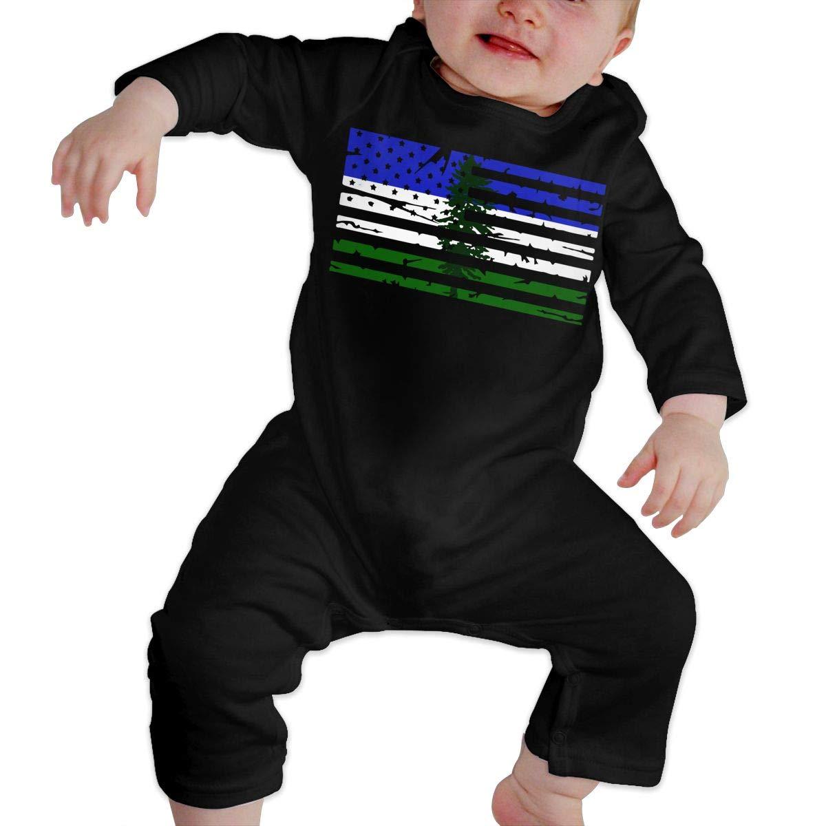 LBJQ8 Cascadia American Flag Newborn Kids Baby Boys Soft /& Breathable Romper Jumpsuit