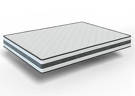 elalmacendelcolchon Colchón viscoelástico Reversible, Modelo Memory Fresh, 135 x 190 x 22cm, Cara