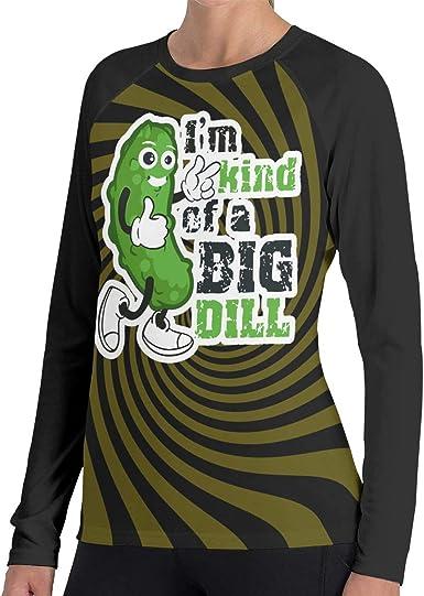 Printed Im Kind of A Big Dill Pickle Womens Fashion Shot Sleeves T-Shirt