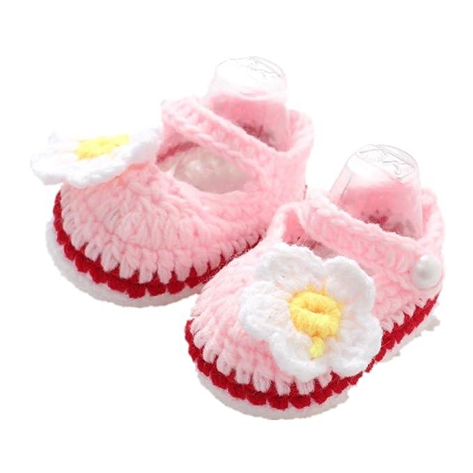 Amazon.com: Zapatos de bebé, efaster Cuna Crochet Casual ...