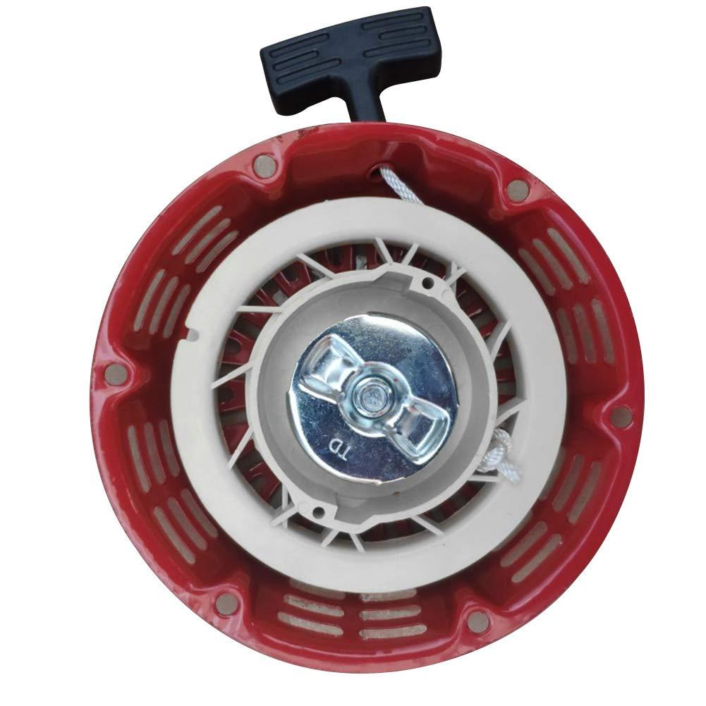 Arrancador de retroceso,Gx160 5.5HP Gx200 6.5HP Generador de jard/ín Motor Motor Cortac/ésped Piezas Rojo para Honda