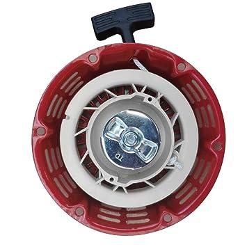 Arrancador de retroceso,Gx160 5.5HP Gx200 6.5HP Generador de ...