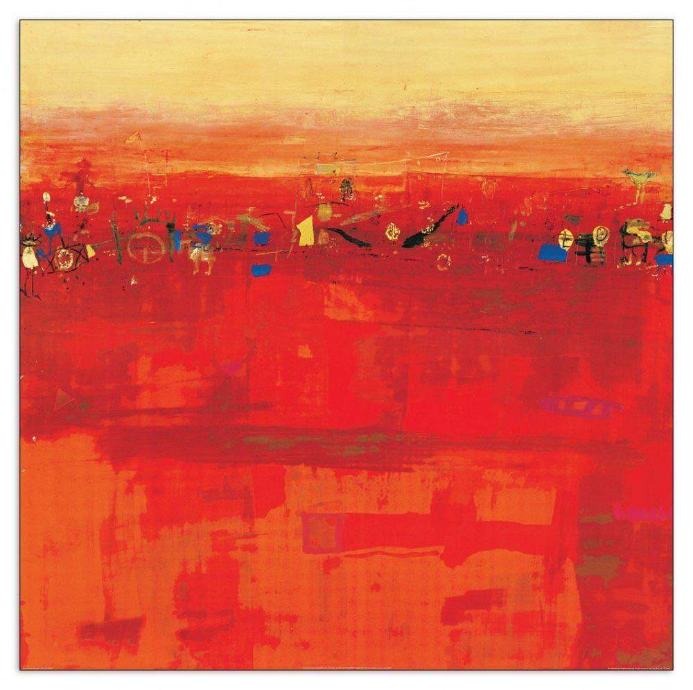 Artopweb TW22163 Richter - Armgart - Red Landscape Dekorative Paneele, Multifarbiert,70x70 Cm