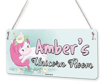 Marvelous Amazon Com Unicorn Room Personalised Childs Bedroom Door Home Interior And Landscaping Oversignezvosmurscom