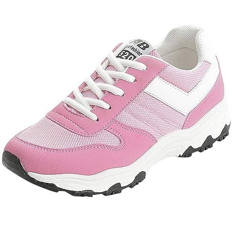LuckyGirls Calzado Deportivo de Mujer Moda Zapatillas de Correr Casuales Zapatos Aumento Interno Color Patchwork Bambas