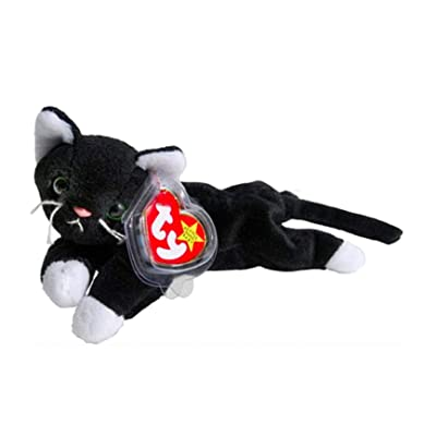 Ty Beanie Babies Zip The Black Cat with White Paws: Toys & Games