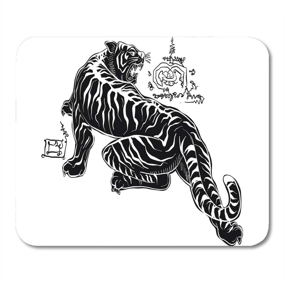 Almohadillas para Ratón Hermoso Tigre Negro Tailandés Tradicional ...