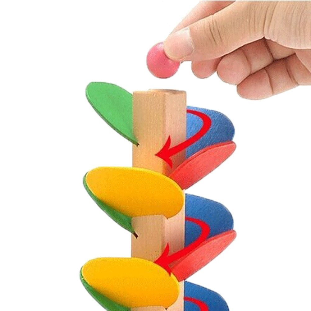 Educational Toy Blocks Wooden Tree Marble Ball Run Track Game Baby Kids Children Intelligence Wooden Baby Toys by General (Image #2)