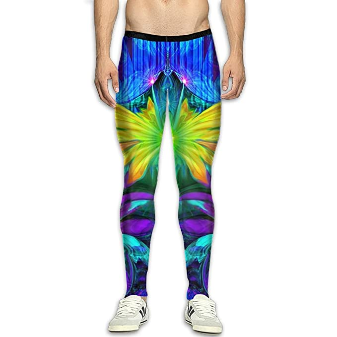 76d996a1f473bb Amazon.com: Virgo Colourful Fairy Breathable Compression Pants/Running  Tights Baselayer Mens Winter Pants Runners Zipper: Clothing