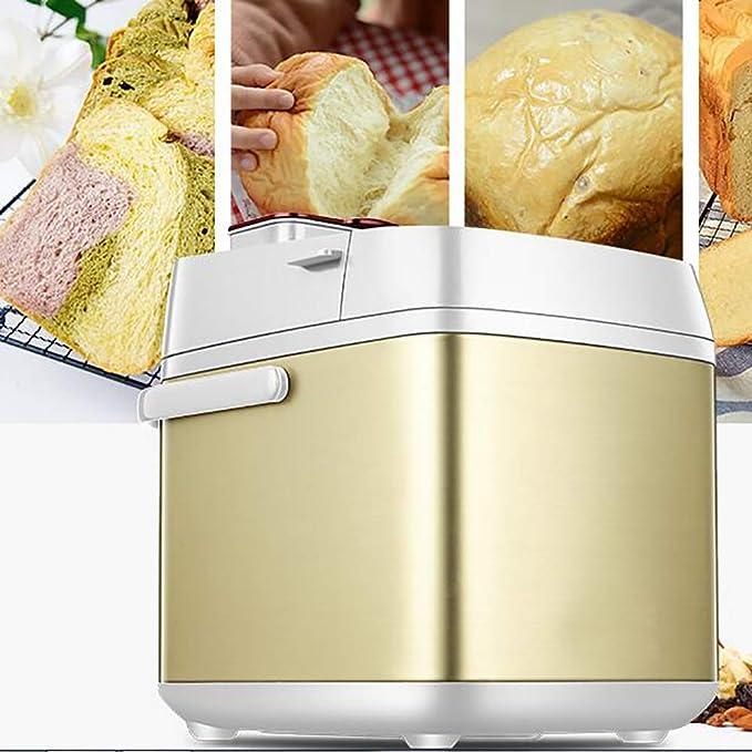 LJ-MBJ Fabricante de Pan, Multifunción Casa Maquina para Hacer Pan, Completamente automático Máquina para Hornear Pan, Ajuste Libre de Gluten, ...