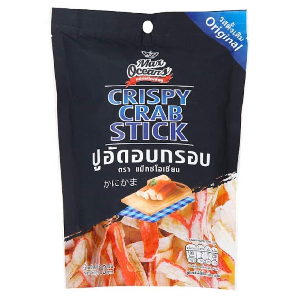 Max Oceans Brand, Crispy Crab Stick, Original Flavour, Size 30g X 4 Packs