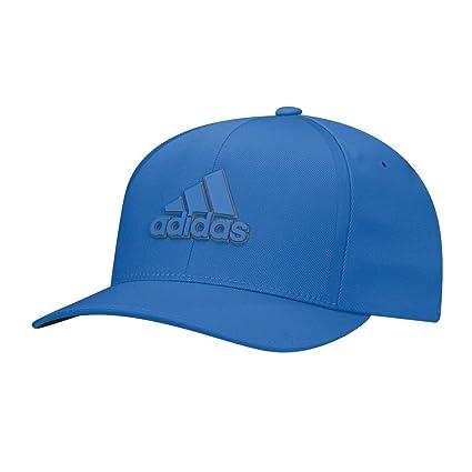 cf4329cbf8c adidas 2017 Tour Delta Flex-Fit Textured Structured Hat Mens Stretch Golf  Cap Blast Blue