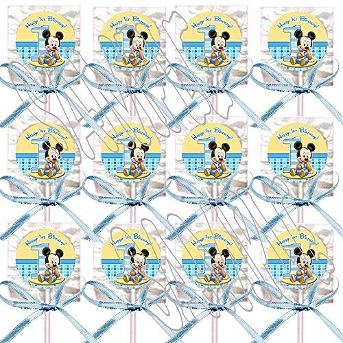 Baby Mickey Mouse 1st Birthday Lollipops Party Favors