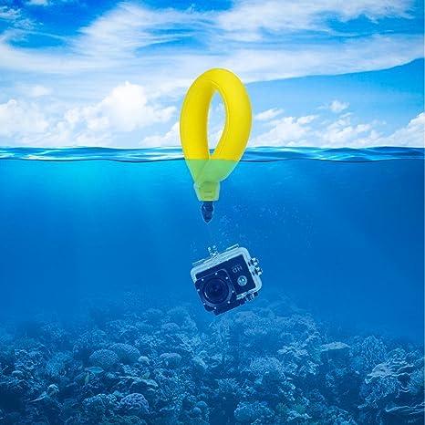 Ueasy de la cámara impermeable flotador espuma flotante Correa para la muñeca para Submarino GoPro/