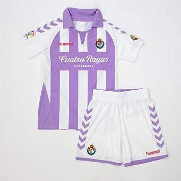 Hummel Real Valladolid CF 2018-2019 Niño, Conjunto, Violeta-Blanco: Amazon.es: Deportes y aire libre