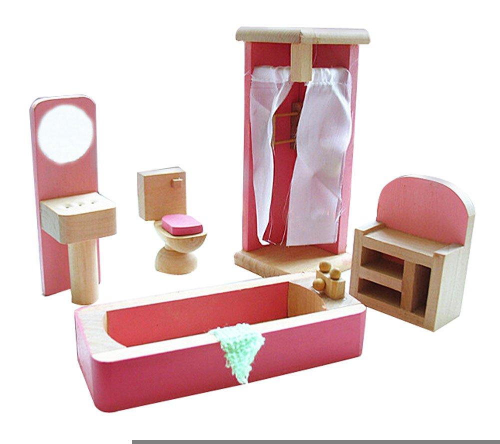 Lovely enfants mignons en bois playhouse jouets assemblage for Assemblage de meuble en bois