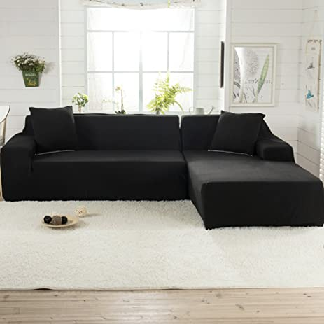 Amazon Littlegrass Stretch Sectional Sofa Covers for L Shape