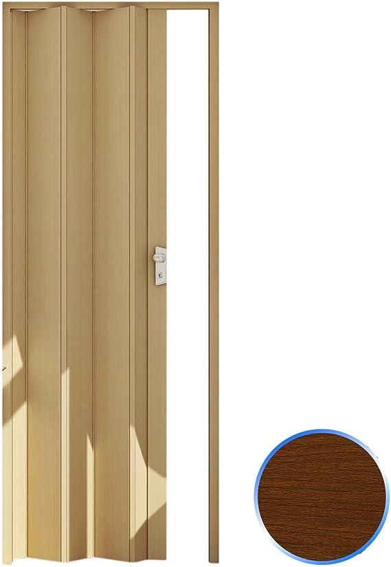 Forte Puerta Plegable de Interior de PVC Madera Oscura 83x214 cm ...