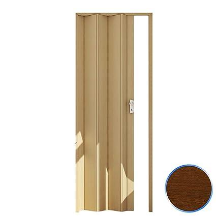Porta a soffietto legno scuro maya cm l 83 x h 214 effetto legno con ...