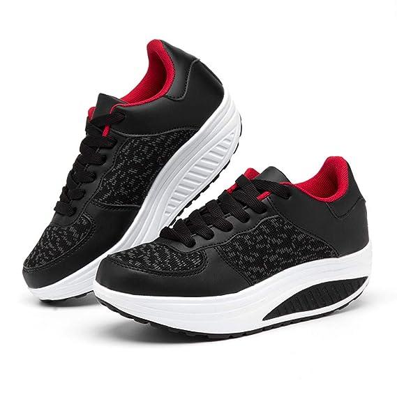 b76793dce17 Amazon.com  High Heel Wedge Sneakers for Women