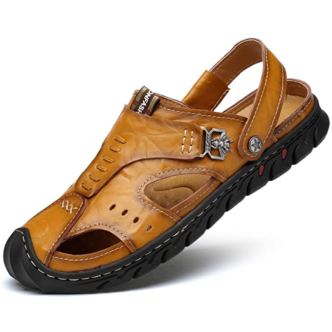 Sandalias De Verano Para Hombre Zapatillas Informales Respirables Usadas Zapatillas De Playa No Deslizables Con Punta