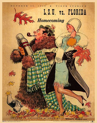 LSU vs Florida '58 Vintage Football Poster (Asgard Press compare prices)